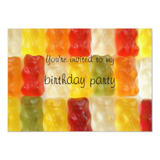 gummy bears birthday party card