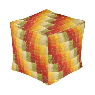 gummy bears cube pouf
