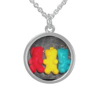 Gummy Bears Round Pendant Necklace