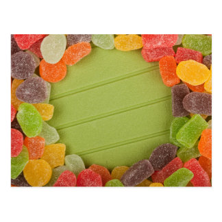 Gummy candy frame postcard