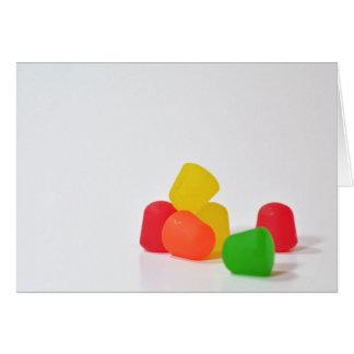 Gummy Drops Greeting Card
