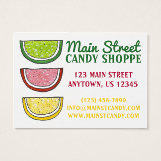 Gummy Fruit Slice Candies Candy Shop Food Sweet Business Card