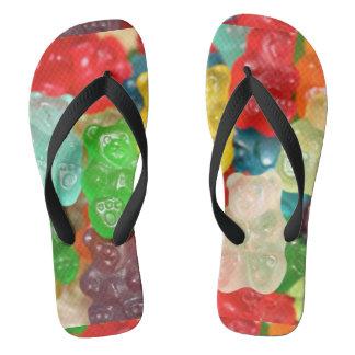 gummybears,candy,colorful,fun,kids,kid,children,pa flip flops