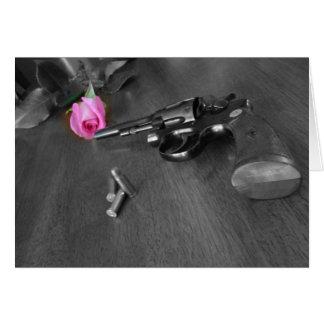 Gun and Rose Greeting Card