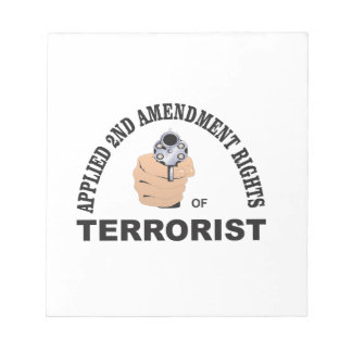 gun and terrorist in the usa notepad