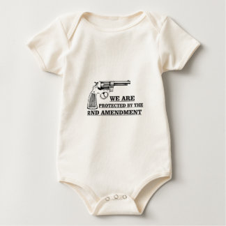 gun and the 2nd baby bodysuit