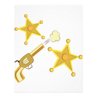 Gun & Badge Letterhead Design