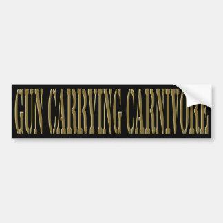 Gun Carrying Carnivore Car Bumper Sticker