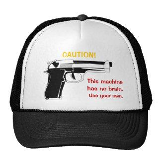 Gun Caution Hat