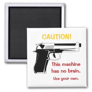 Gun Caution Magnet