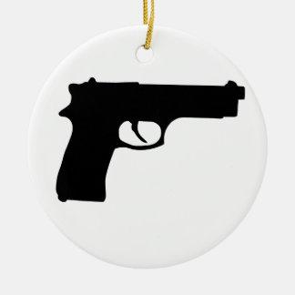 Gun Ceramic Ornament