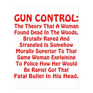 Gun Control A Woman Found Dead In The Woods Postcard
