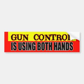 Gun Control Bumper Sticker