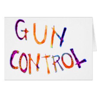 Gun control greeting card