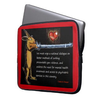 Gun Control - Charles B. Rangel Quote Laptop Sleeve