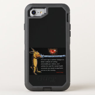 Gun Control - Charles B. Rangel Quote OtterBox Defender iPhone 8/7 Case