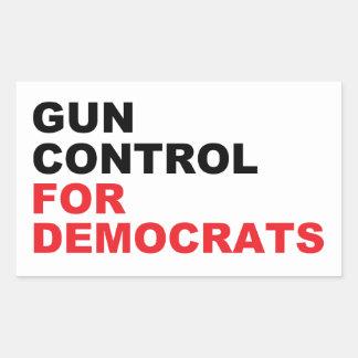 Gun Control For Democrats Sticker