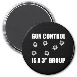 Gun Control Group 3 Inch Round Magnet