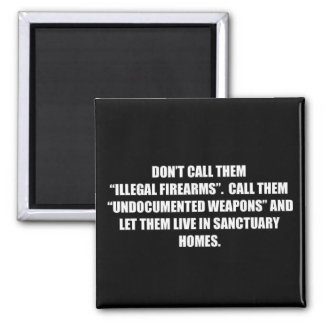 Gun control illegal firearm undocumented weapons magnet