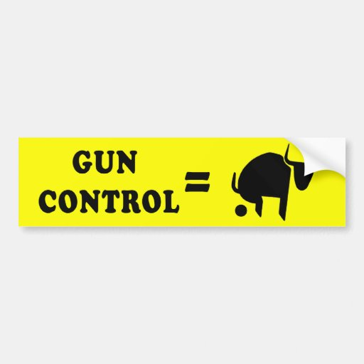 Gun Control is B.S. Bumper Stickers