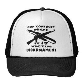 Gun Control Is Victim Disarmament Trucker Hat