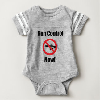 Gun Control Now Baby Bodysuit