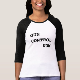 Gun Control Now, bold black text, Protest T-Shirt