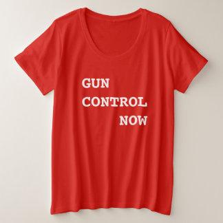 Gun Control Now, bold white text, Protest March Plus Size T-Shirt