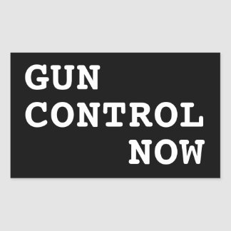 Gun Control Now, custom background color Sticker
