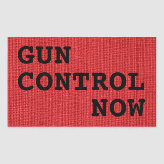 Gun Control Now on Red Linen Photo Sticker