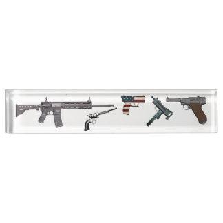 gun display by highsaltire nameplate