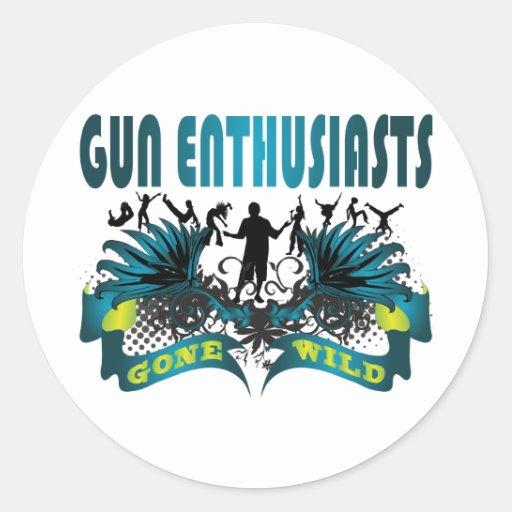 Gun Enthusiasts Gone Wild Stickers