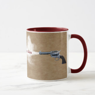 Gun Fight at the Coffee House Mug