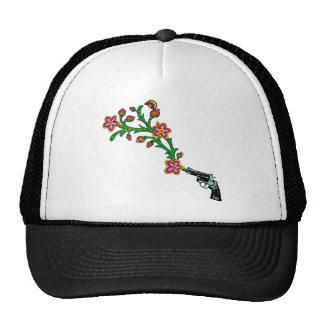 Gun & Flowers Blossom Hats