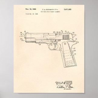 Gun Head Space 1968 Patent Art Old Peper Poster