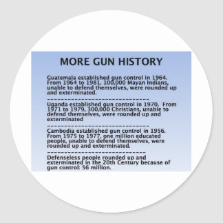 gun history round sticker
