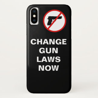 Gun Law Reform Message iPhone X Case