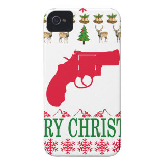 GUN MERRY CHRISTMAS . iPhone 4 COVERS
