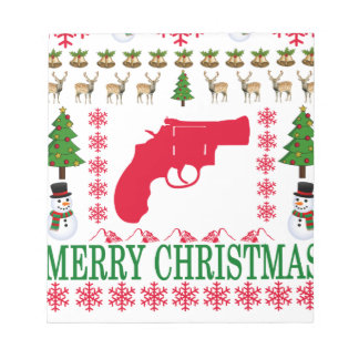 GUN MERRY CHRISTMAS . NOTEPAD