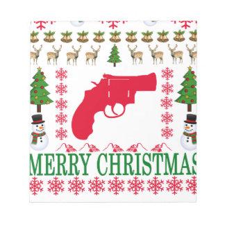 GUN MERRY CHRISTMAS . NOTEPADS