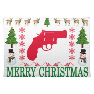 GUN MERRY CHRISTMAS . PLACEMAT