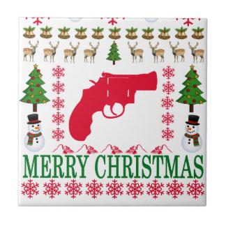 GUN MERRY CHRISTMAS . TILE