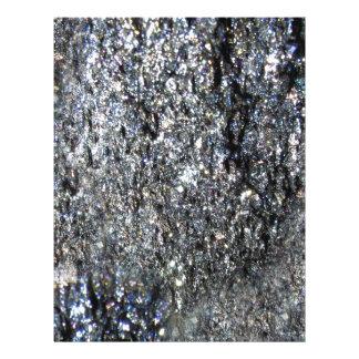 Gun Metal Sparkling Crystal Mineral Stone Customized Letterhead