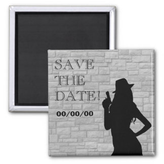 Gun Moll Silhouette Save-the-Date Magnet