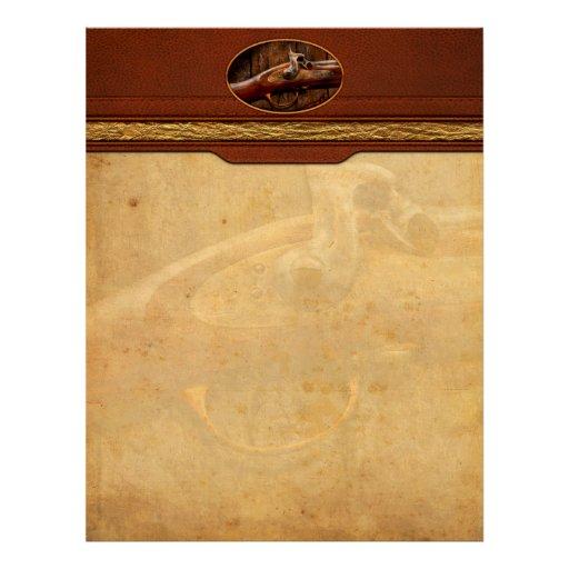 Gun - Musket - London Armory Personalized Letterhead