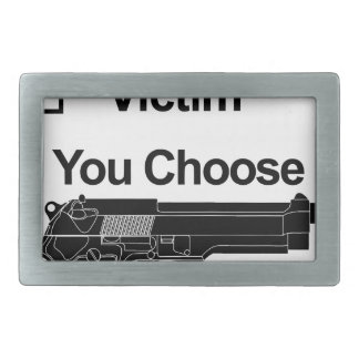 gun owner victim you choose belt buckle