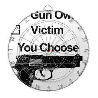 gun owner victim you choose dartboard