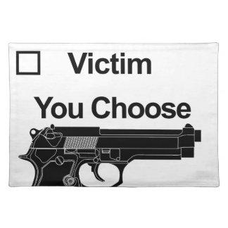 gun owner victim you choose placemat