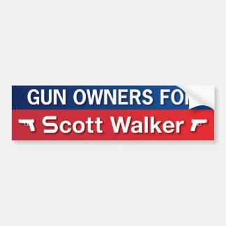 Gun Owners for Scott Walker Bumper Sticker