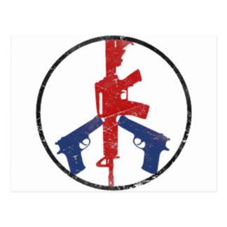 Gun Peace Sign by U.S. Custom Ink Postcard